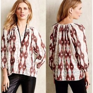 Anthropologie Line & Dot Embroidered Blouse XS